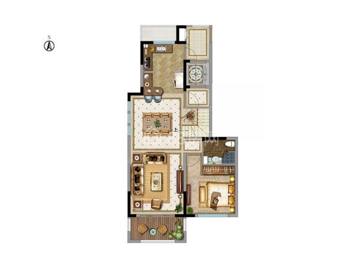 中叠4室2厅3卫