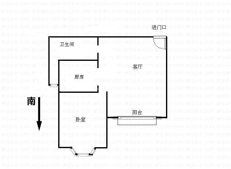 小户型总价低 毛坯1房1厅 产证满2年 诚意出售148万