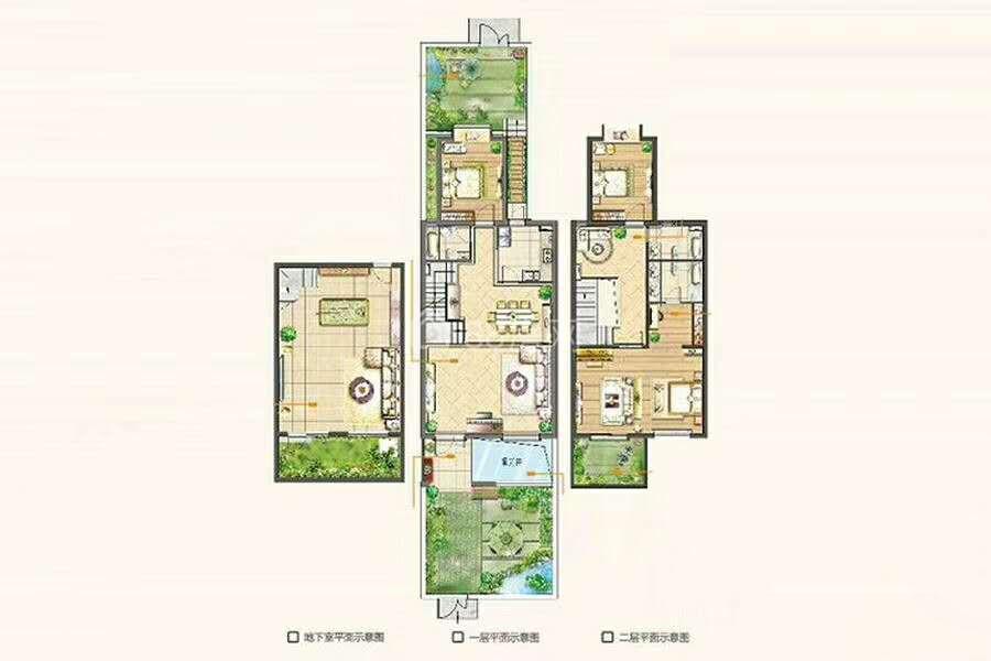 叠院洋房1复2带南北花园和地下室 户型宽敞通透 满2年