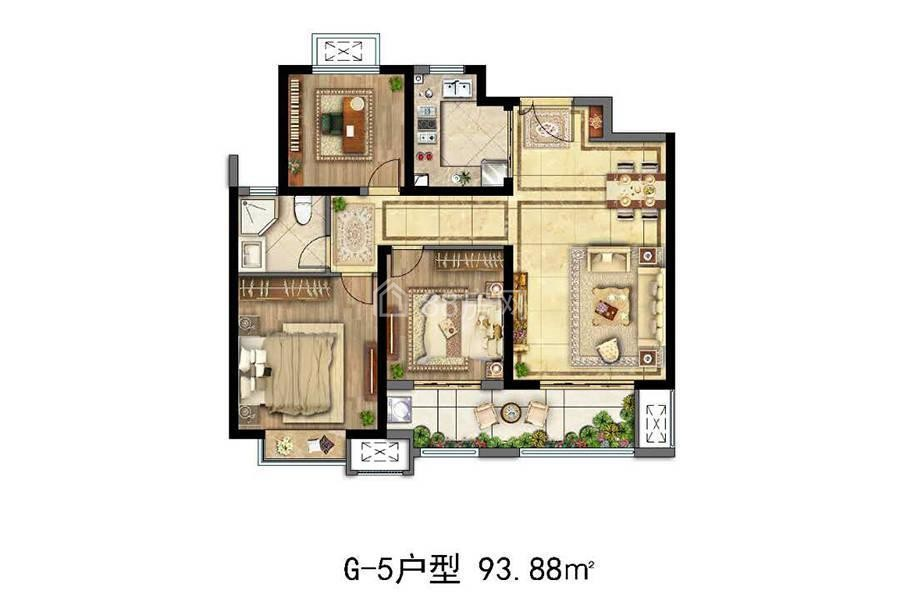 G-5三室两厅一卫