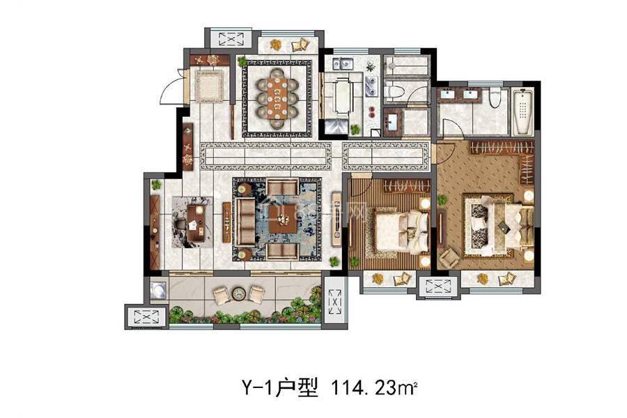 Y-1三室两厅两卫