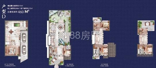 别墅460平户型