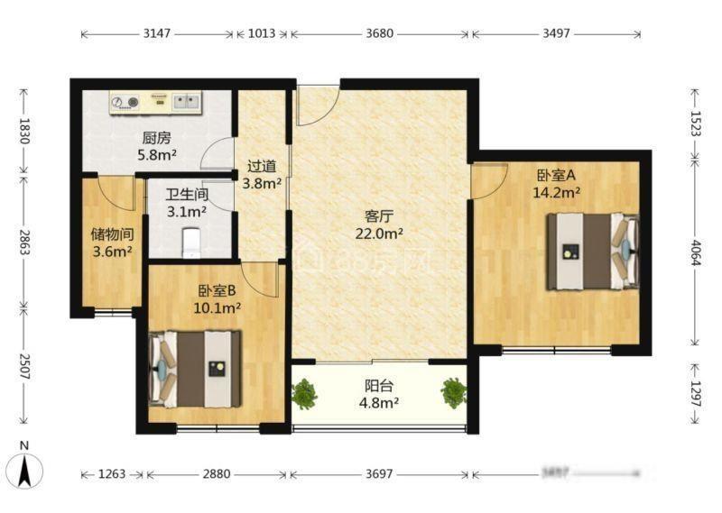 周庄核心单价4K起首付20万起的两房,镇中心配套齐全,双公园