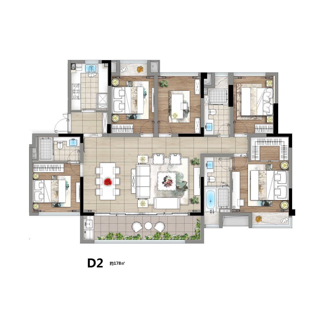 全屋中央空调地暖新风系统!电梯洋房精装修品质小区!