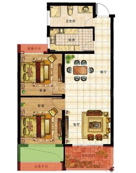 西乡固戍无限制购房项目69.8万一套两房带装修