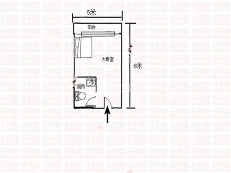 光大山湖城花园西普装1室0厅30m