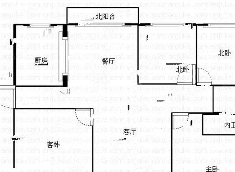 解放西路,梅婷苑精装朝南主卧850元,有空调无线网