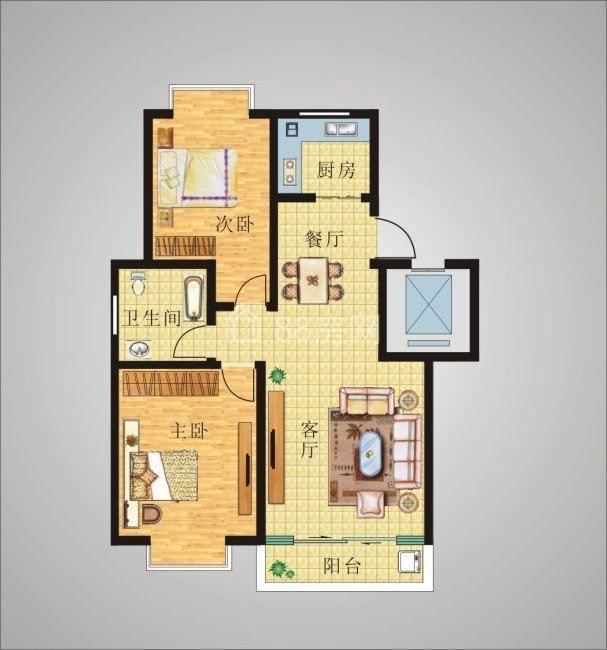 安庄新村宽敞两室 设施齐全一包入住有车库 邻竹西中学花都汇