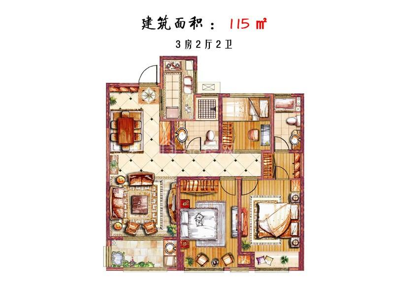 高层三室两厅两卫
