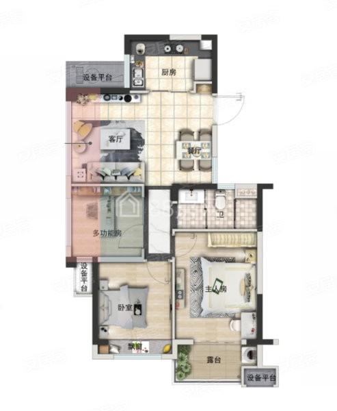 A户型三室两厅一卫