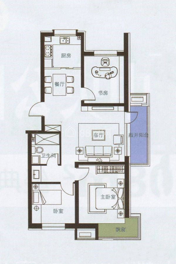 三室两厅一卫